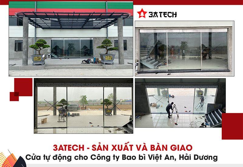 3ATECH - Sản xuất và lắp đặt hệ thống cửa trượt tự động công ty cổ phần bao bì Việt An