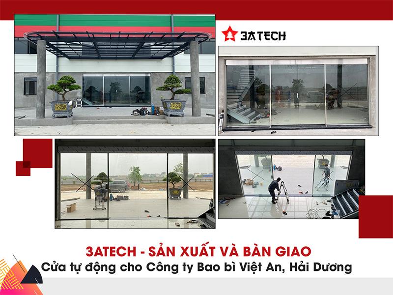 Hệ thống cửa trượt tự động công ty cổ phần bao bì Việt An