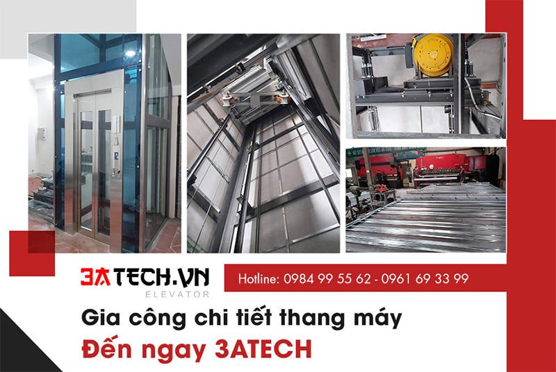 đặt hàng gia công thang máy