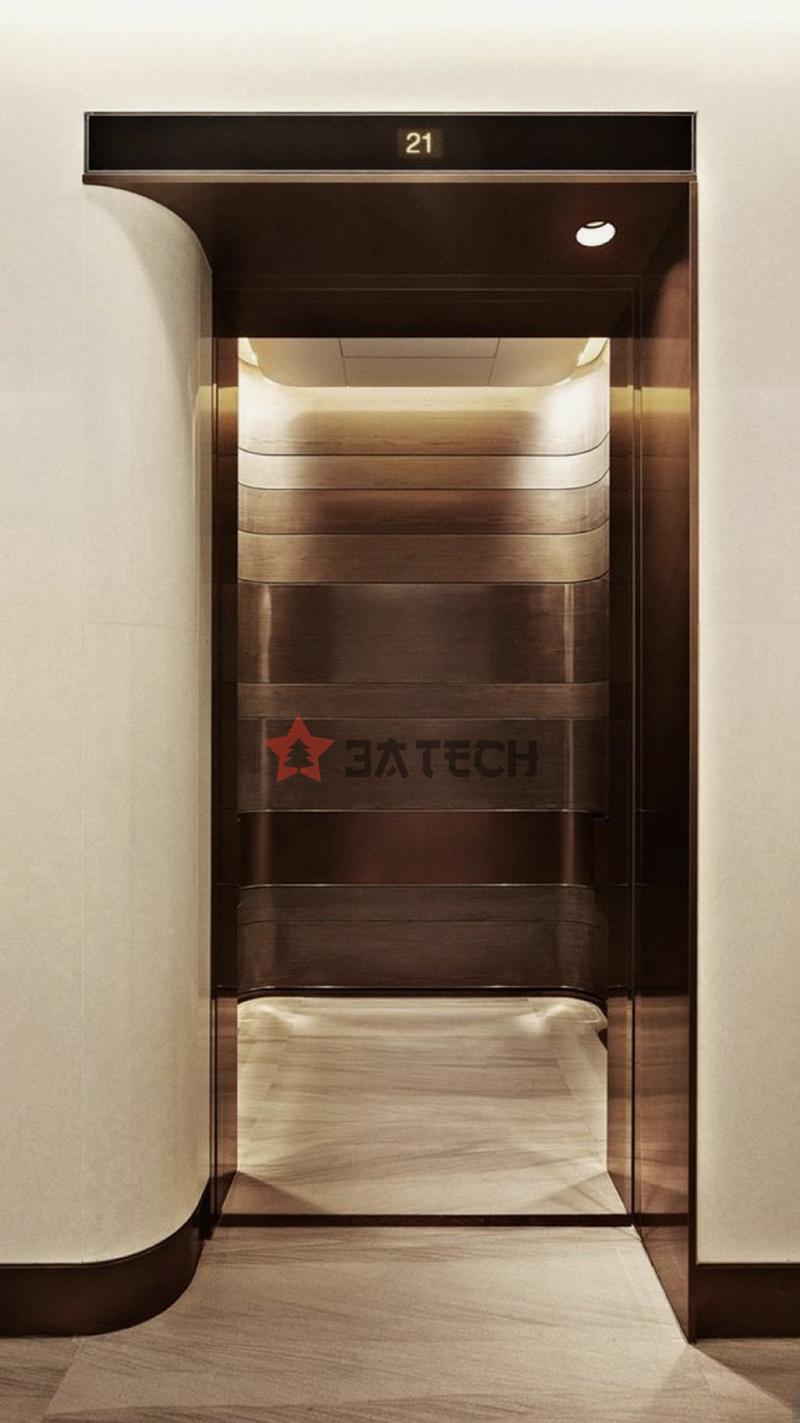 Inox ốp cabin, cửa thang máy