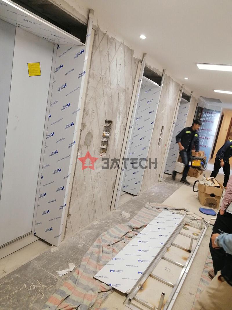 Sản xuất tấm ốp thang máy inox